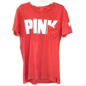 VS PINK Oversized Graphic Tee Shirt
